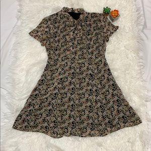 Forever 21 70s inspired floral skater dress